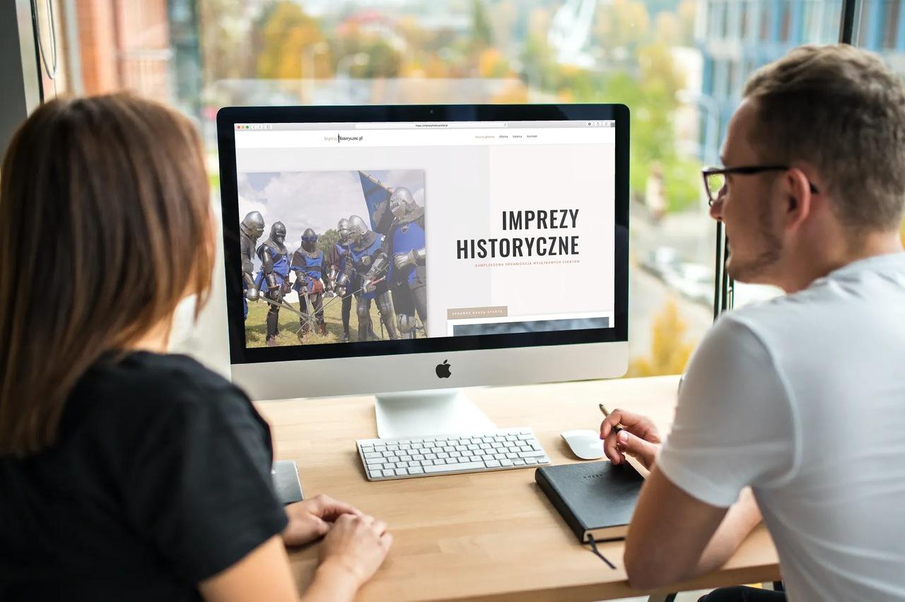 wizualizacja strony internetowej imprezy historyczne